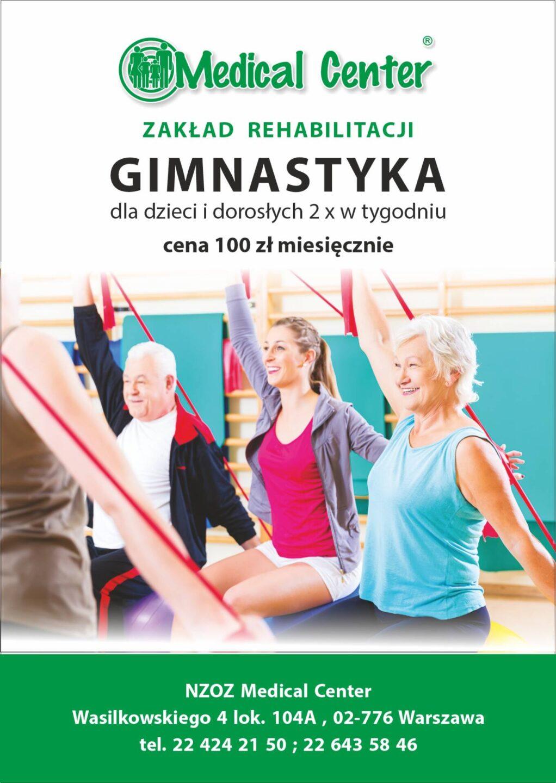 Wznowienie gimnastyki dla dzieci i seniorów!!!